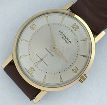 17 Swiss made Rodania Incbloc men's vintage wind up watch. - $125.51