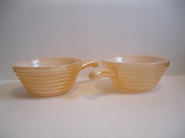 Set of 2 Fire King Peach Lustre Soup/Chili Bowl... - $7.95