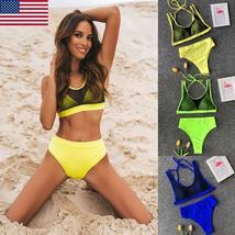 US Women Summer Swimwear Bikini Set Pushup Padded Bra Bathing Suit Swimsuit Lot image 4