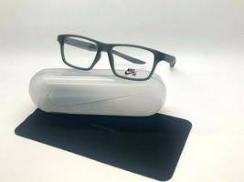 NEW NIKE 7112 070 MATE DARK GREY  OPTICAL Eyeglasses 53-15-145MM /CASE &... - $58.17