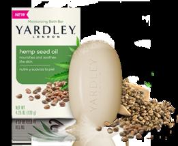 New Lot Of 3 Yardley London  Soap Hemp Seed Oil  Moisturizing Bath Bars - $13.99