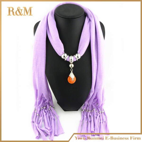 Charms Scarf jellery pendant Scarf Scarves lace Scarf image 10