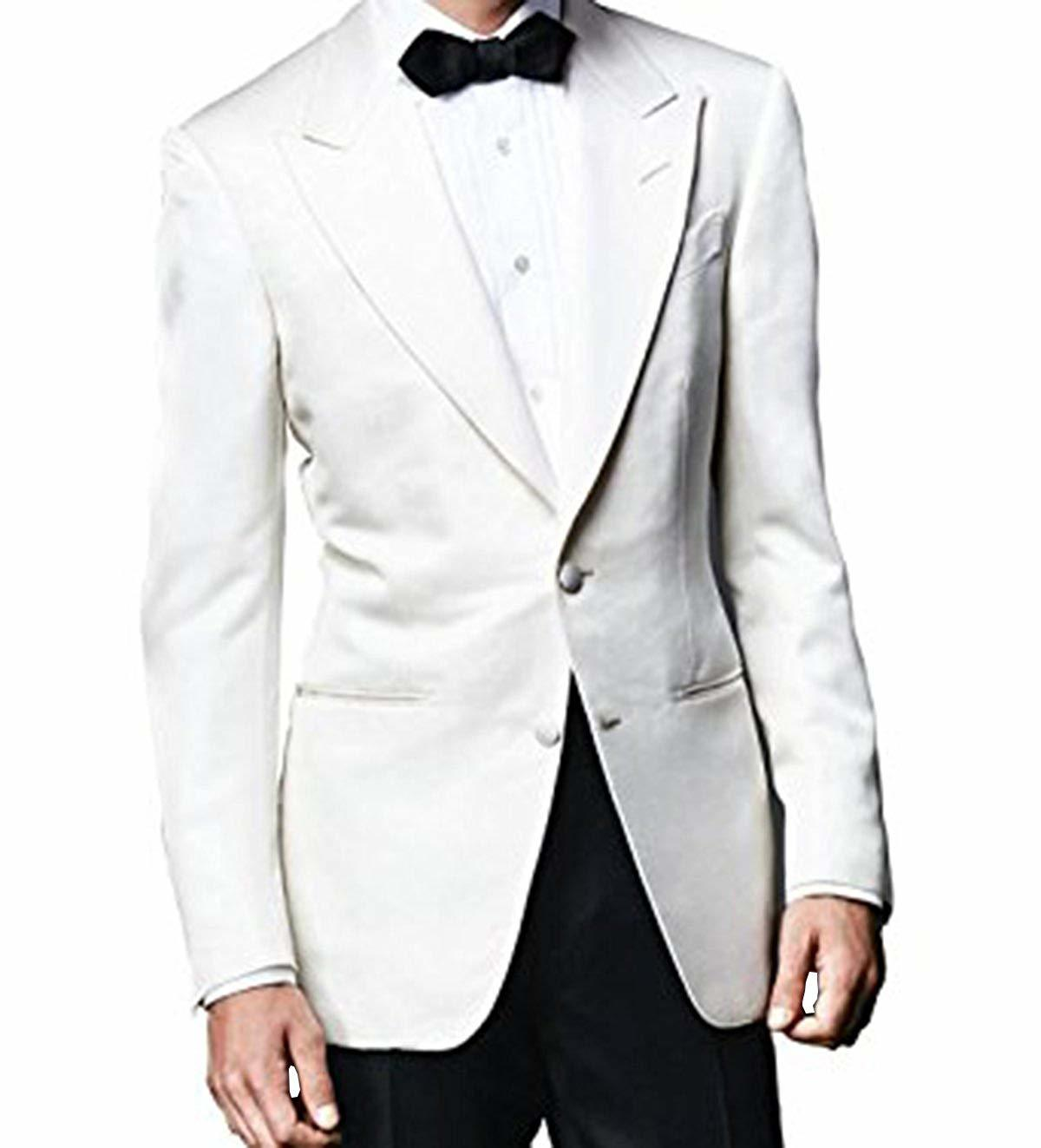 Lp facon james bond spectre ivory white tuxedo with black pants