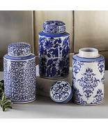 Asian Blue and White Canister Set Vanity Set - $49.99