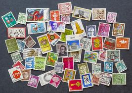 55 Deutsche Stamps, used, in various denominations - $6.00