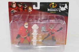 Disney Pixar Incredibles 2 Mr Incredible Elastigirl Jack Jack Raccoon Figures - $14.24