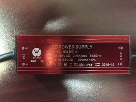 LED POWER SUPPLY XC-18W 300-IN INPUT 85-265VAC 0.25A Max Output 24-65VDC... - $28.71