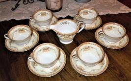 13pc Noritake MIRABELLE 3843 Tea Cup & Saucer Set w/ Creamer Floral Pattern - $69.29