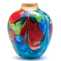 Floral Fantasia Art Glass Vase - $57.99