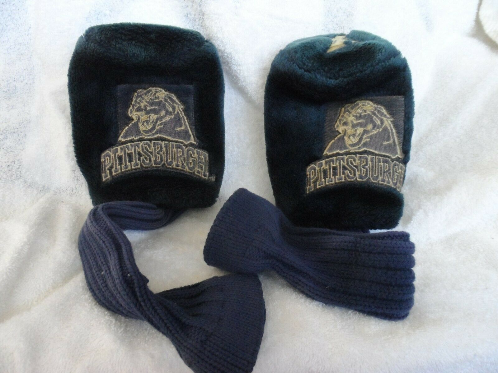 "Primary image for Pittsburgh Panthers  #3 and X GOLF Club COVERs faux fur and knit 12"" sock"