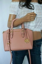 NWT MICHAEL KORS CIARA MEDIUM MESSENGER LEATHER BAG PALE PINK COLOR - $118.79