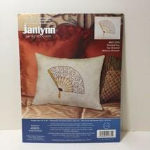 "Oriental Fan Candlewicking Embroidery Kit Janlynn 13"" x 10"" - $9.74"
