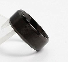 NEW FANSING Mens Womens Unisex Black 8mm Stainless Steel Wedding Band Ring image 3