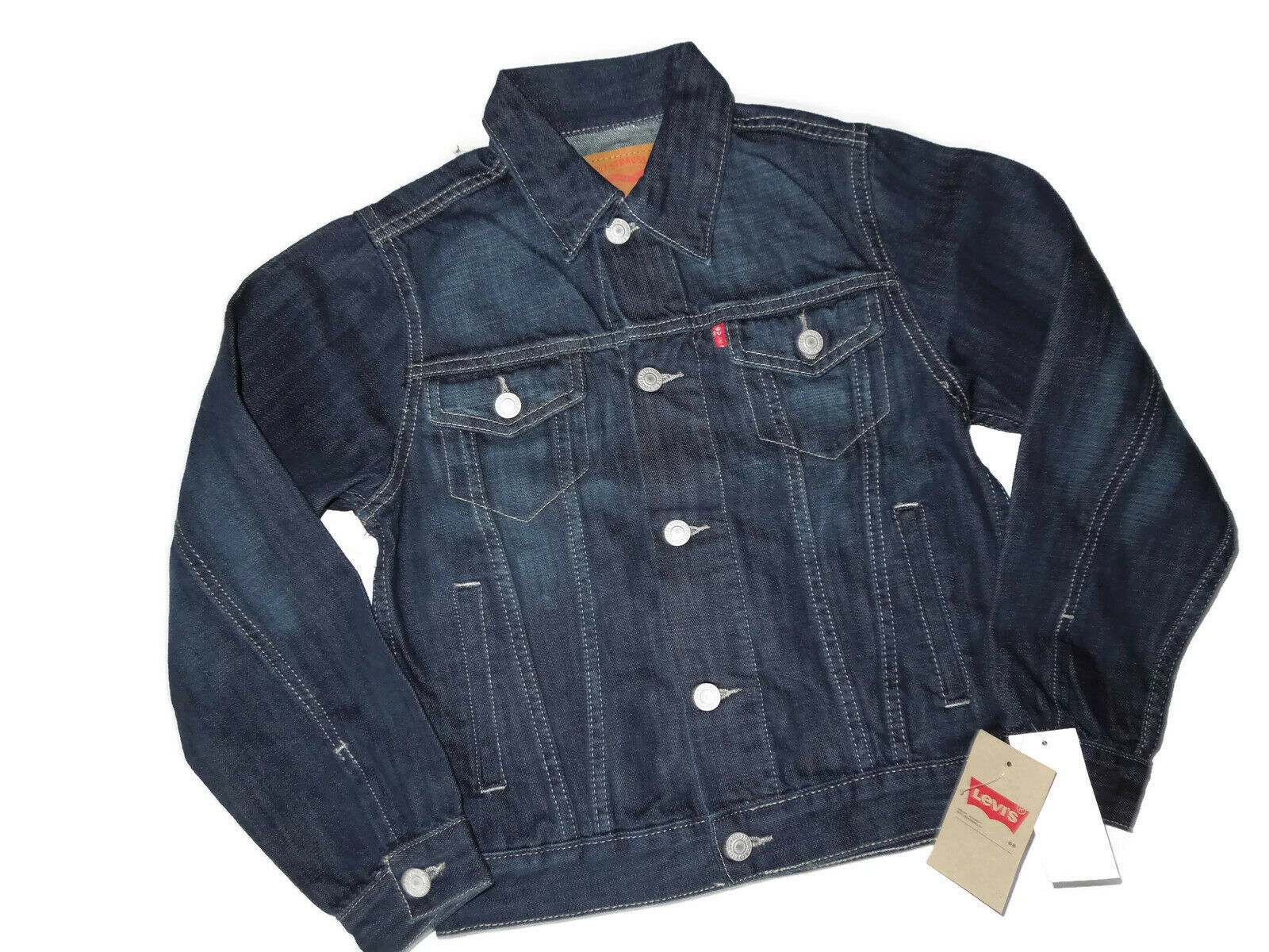 Primary image for Levi's Levi Big Boys Denim Trucker Jacket Dark Medium M 10 - 12 Years