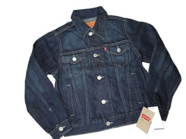Levi's Levi Big Boys Denim Trucker Jacket Dark Medium M 10 - 12 Years - $40.35