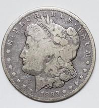 1893CC $1 Morgan Silver Dollar Coin Lot # MZ 4816