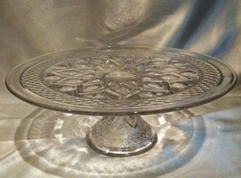 "IMPERIAL CAPE COD GLASS Pedestal cake plate stand 10"" x 4"" Vintage Elegant - $25.24"