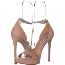 Steve Madden Starlet Ankle Strap Heeled Sandals 607, Natural Nubuck, 8 US - $31.67