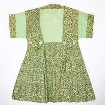 Vintage 1940s Clothes Pin Holder Bag Hanging Child's Dress Floral Pleated  - $34.60