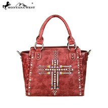 Montana West Floral Tooled Western Embroidered Arrow Crossbody Tote Handbag - $61.99