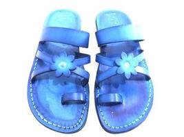 Leather Sandals for Women FLOWER by SANDALIM Biblical Greek Roman Sandals - $40.36 CAD+
