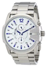 Authentic Diesel DZ4181 Master Chief Silver Chronograph Mens Watch - $232.85 CAD