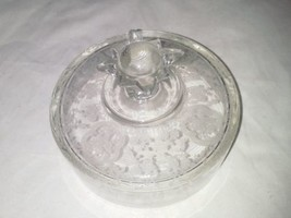 Bridal Bouquet Etched Cheese Dome Cover Only USA Vintag Paden City Patte... - $29.99
