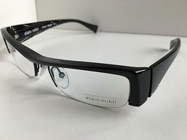 New Vintage ALAIN MIKLI PACT AL 0795 01 51mm Black Semi-Rimless Eyeglass... - $269.99