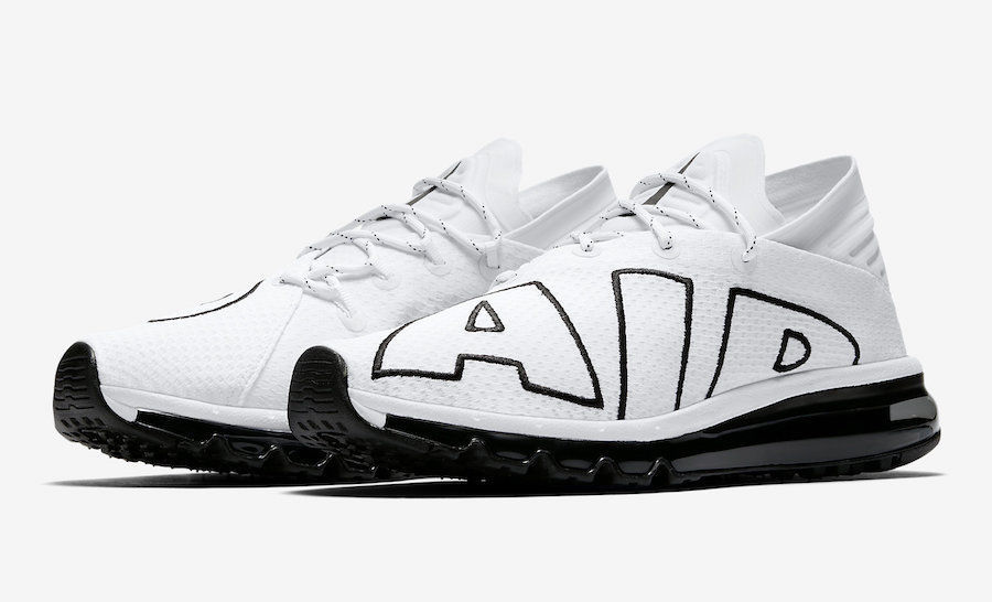 cheap for discount 97109 a0b6e Nike Air Max Flair White/Black Running Sneakers Size 8.5 UK 43 EU Trainers  New