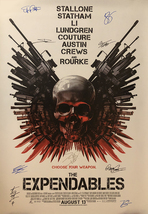 The Expendables Signed Movie Poster - $180.00