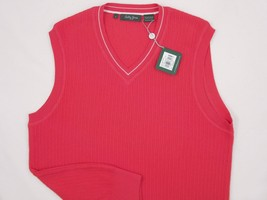 NEW! NWT! $135 Bobby Jones Collection Colorful Vest! 100% Peruvian Pima Cotton image 2