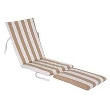 kingrattan.com Made in USA Steamer Chair Cushion Sunbrella Maxim Heather Beige