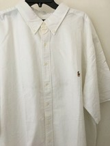 RALPH LAUREN White Short Sleeve S/S Oxford Shirt 3XLT NWT - $46.51