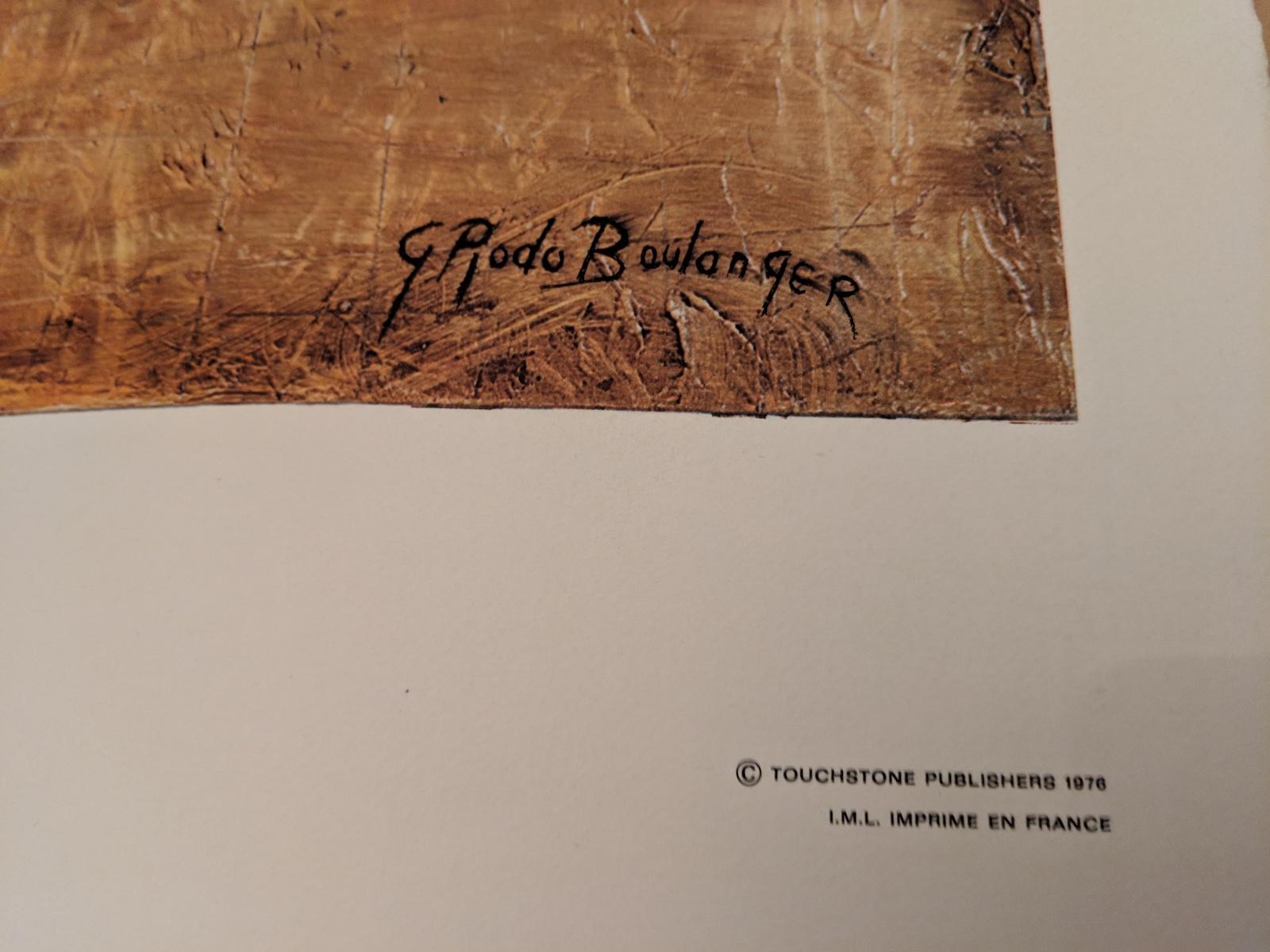 Graciela Rodo Boulanger 1976 Tour de France Art Print, Vintage, Like New