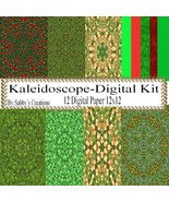 Kaleidoscope Digital Kit 1-Digtial Paper-Art Clip-Gift Tag-Jewelry-T shi... - $5.00