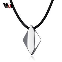 Vnox Punk Mens Choker Necklace Pure Tungsten Carbide Rhombus Necklaces &... - $17.52