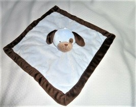 Tiddliwinks Blue Brown Puppy Dog Security Blanket - Lovey Lovie Plush Boy Baby - $9.89