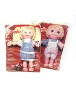 """McSnuggles Sweet Sue and Baby Bobby 16"""" Tall Vintage Soft Sculpture Doll... - $11.62"""