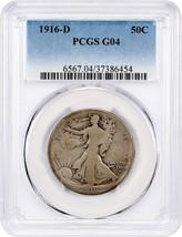 1916-D 50c PCGS Good-04 - Scarce Early Walker in Gem - $58.20
