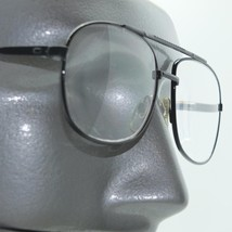 Reading Glasses Aviator Metal Frame Polished Black +3.25 Lens Strength - $22.00