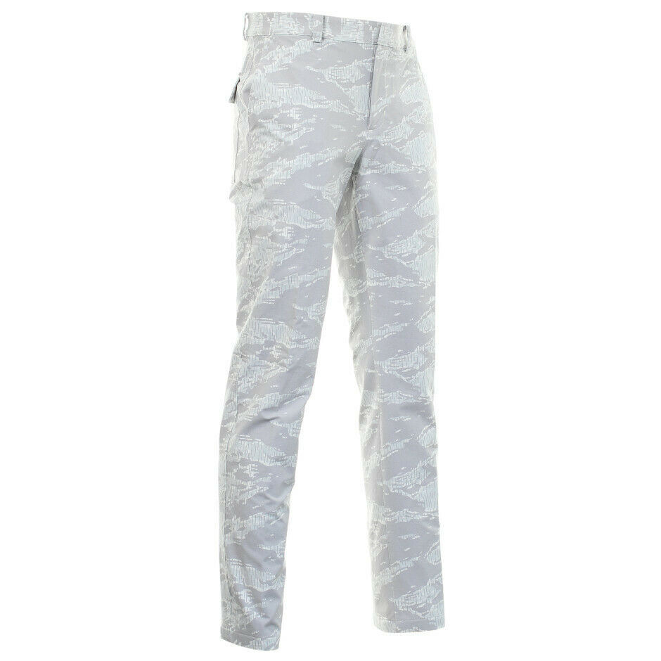 Primary image for Nike Flex Waterproof Weatherized Camo Golf Pants White Gray Slim  AV4218 Sz 34