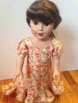 Holoku Hawaiian Polynesian dress, coral flower, handmade, fits 18 inch d... - $30.00