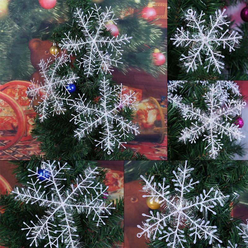 (size 15cm)30pcs Christmas Snowflakes Classical Tree Home Party Festival Decorat
