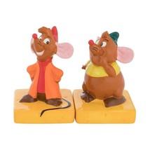 Walt Disney Cinderella Jaq and Gus Sculpted Ceramic Salt Pepper Set NEW ... - $17.41