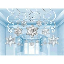Snowflakes Mega Value Pack 30 Ct Hanging Swirls Decorations - $16.82