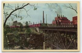PLE Railroad Train Switching Kobuta Works Koppers Ohio Howard Fogg postcard - $5.89