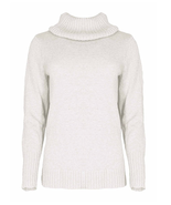 Nautica Women's Soft Turtle Neck Long Sleeve Sweater in White, Size L - $23.75