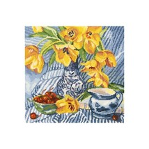 """Cross-stitch embroidery of the company RTO """"STORYMORT WITH TULIPS"""" M504 - $25.00"""