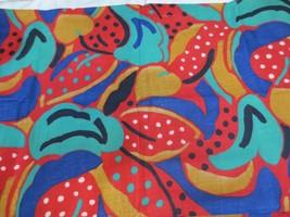 Vtg  Bold Watermelon? Floral? Fabric Cranston Schwartz Liebman Cotton US... - $10.00