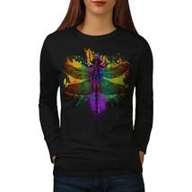 Dragonfly Insect Animal Tee Rasta Love Women Long Sleeve T-shirt - $14.99